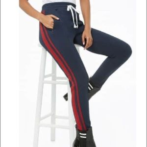 Red Striped Drawstring Pants